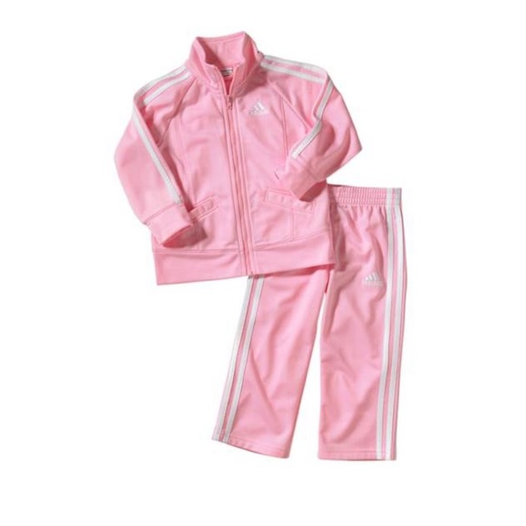 seré fuerte enviar Pisoteando  adidas Matching Sets | Baby Girl Adidas Pink Track Suit | Poshmark